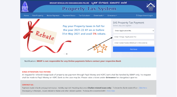 How to pay BBMP Property tax